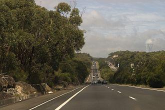 Princes Motorway - Image: Southern Freeway, near Helensburgh NSW