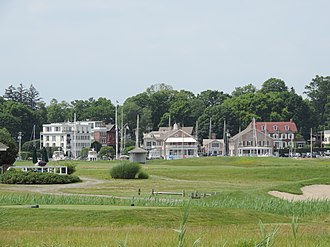 Southport, Connecticut - A view of Southport Harbour from neighbouring Sasco Hill.