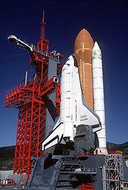 Space Shuttle Enterprise in launch configuration