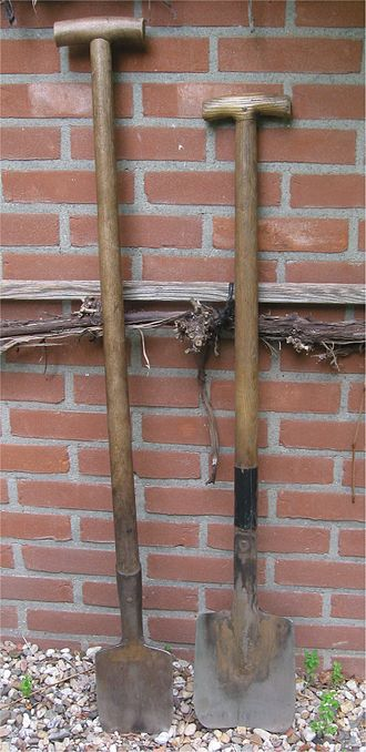 Spade - Small spade for clay soil; the other one for sandy soil and loamy soil