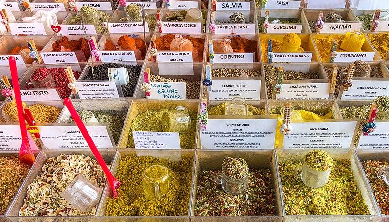 File:Spices of Saúde flea market, São Paulo, Brazil.jpg