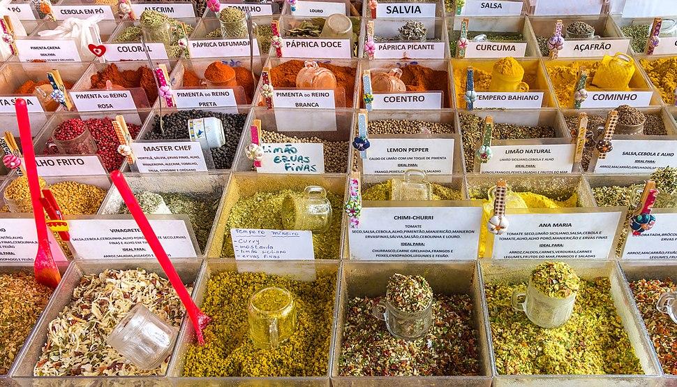 Spices of Saúde flea market, São Paulo, Brazil