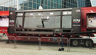 NHL on Sportsnet - Sportsnet Mobile Studio truck at the Rogers Hometown Hockey Tour in Regina, Saskatchewan.