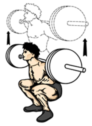 Squat (exercise) - A deep squat