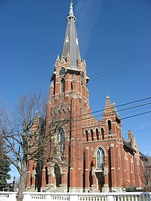 St. Michael's Catholic Church in Fort Loramie, front and eastern side.jpg