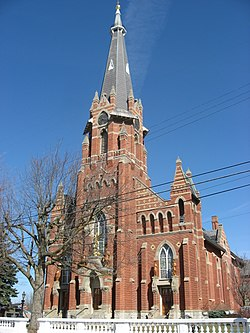 St. Michael's Catholic Church, a community landmark