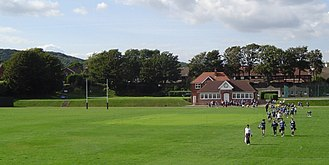 "George Orwell - Playing fields at St. Cyprian's. Blair's time at the school inspired his essay ""Such, Such Were the Joys""."