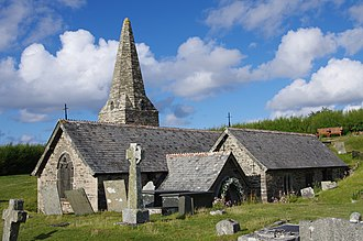 Trebetherick - Image: St Enodoc's Church, Trebetheric, Cornwall 01