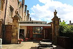 St John's College, Cambridge - Gateway to Kitchen Yard to East of Old Bridge.JPG