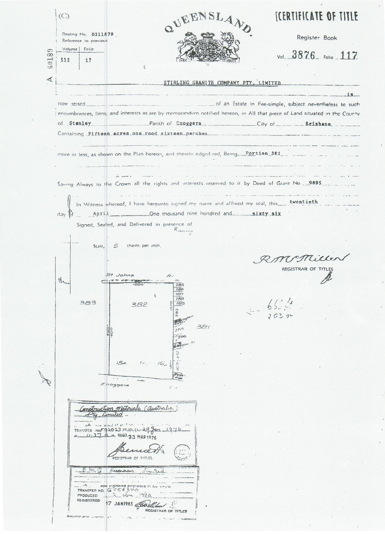 Filest Johns Wood Hill Original Certificate Of Titlepdf