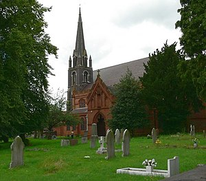 Kidderminster - St John the Baptist's Church (Church of England), built in 1843