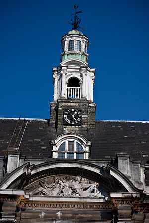 St Olave's Grammar School - Clock tower of the former school building on Queen Elizabeth Street