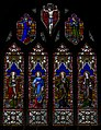 Stained glass window, St George's church, Brede (16229377885).jpg