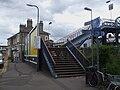 Staines station footbridge entrance north.JPG