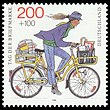 Stamp Germany 1995 Briefmarke Postzustellerin.jpg
