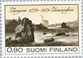 Stamp of Finland - 1979 - Colnect 46877 - Townscape 1839 with Tammerkoski Waterfall.jpeg