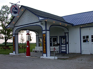 Odell, Illinois - Standard Oil Gasoline Station was a typical gas station along U.S. Route 66.