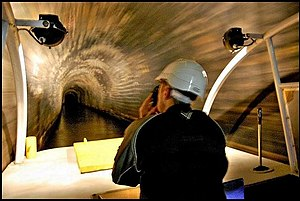 Standedge Tunnels - Inside the canal tunnel