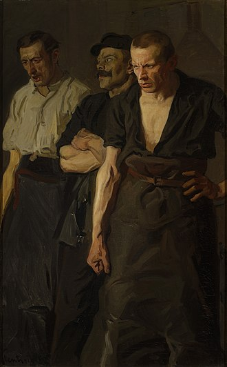 General strike - Strike (1910) by Stanisław Lentz, National Museum in Warsaw.