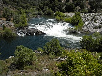 Stanislaus River - Stanislaus River at Camp Nine, near the confluence of the North and Middle Forks.