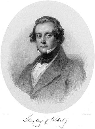 Baron Eddisbury - Edward Stanley (1802–1869), 1st Baron Eddisbury from 1848 and 2nd Baron Stanley of Alderley from 1850