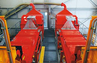 Sensor-based sorting - Parallel installation of two belt-type sensor-based ore sorters at Mittersill mine