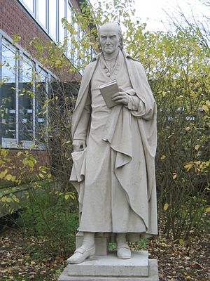Bernhard Heinrich Overberg - Statue of Bernhard Heinrich Overbergs at Overberg-Kolleg in Münster