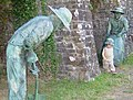 Statues of Lime Kiln workers, Goetre Wharf outdoor museum. - geograph.org.uk - 445277.jpg