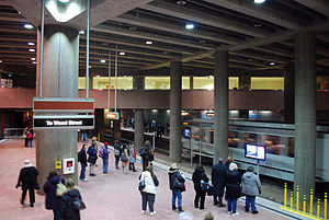 Pittsburgh Light Rail - Steel Plaza subway station, the most utilized station on the system.