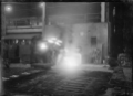 Steel casting with electric furnaces at Hutt Railway Workshops, 1929. ATLIB 295043.png