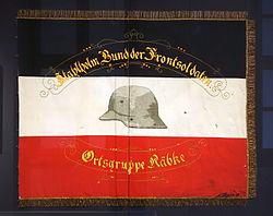 Steel helmet (Stahlhelm) banner, Räbke, Wolfenbüttel, c. 1930 AD - Braunschweigisches Landesmuseum - DSC04747.JPG