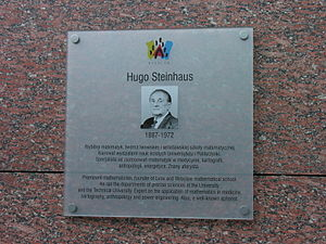 Hugo Steinhaus - Commemorative plaque, Wrocław, Poland