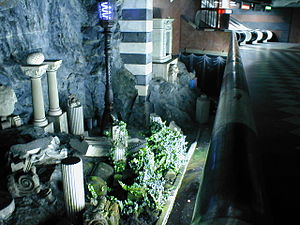 Kungsträdgården metro station - Relics rescued from the redevelopment of central Stockholm during the 1950s and 1960s