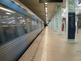 Hötorget metro station - Image: Stockholm subway hotorget 20050808 001