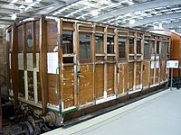 Stockton & Darlington Railway third class carriage No 179, Locomotion Shildon, 28 April 2010.JPG