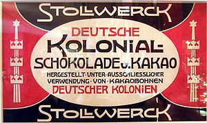 Stollwerck -  A Stollwerck chocolate bar from 1890