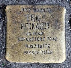 Photo of Efim Meckauer brass plaque