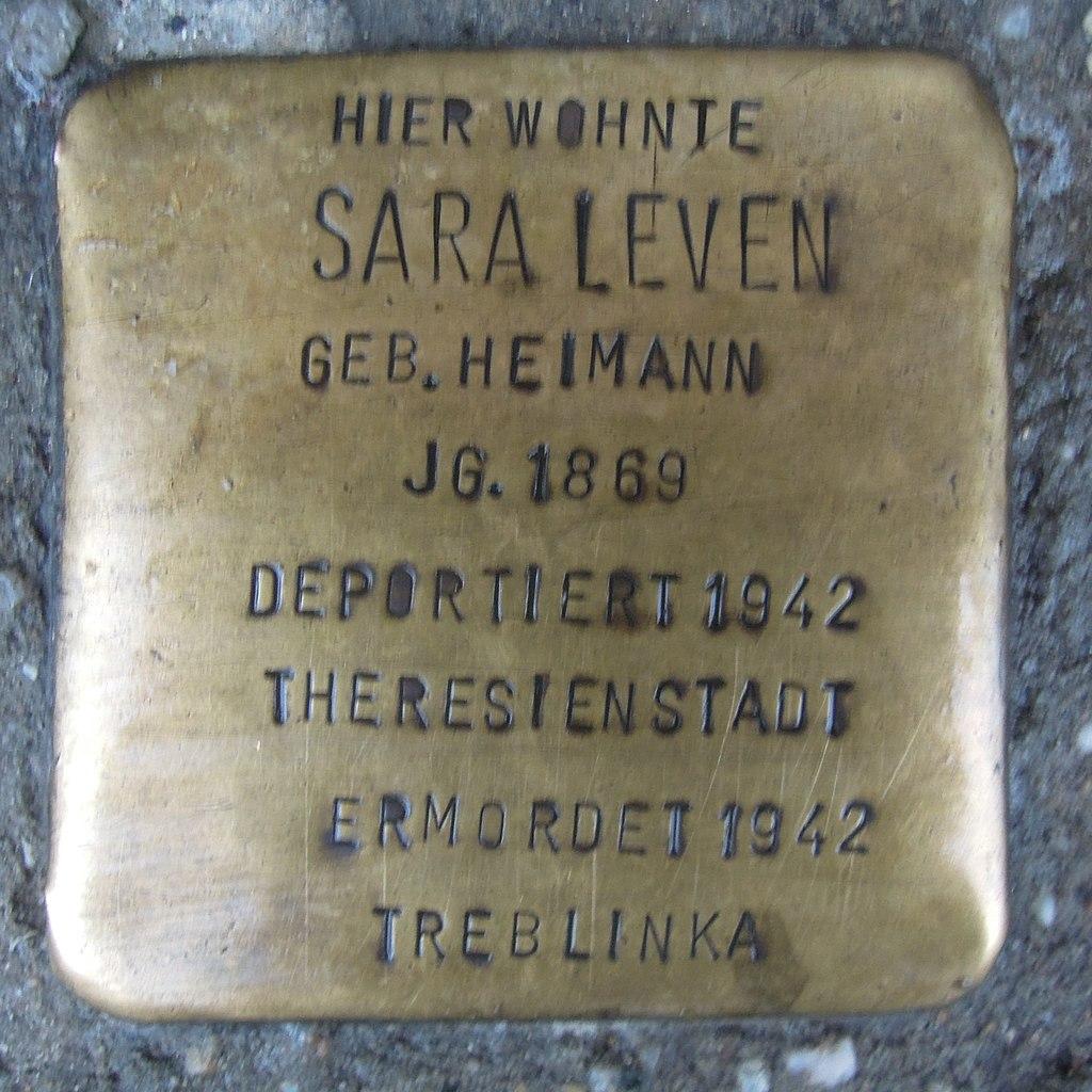 Stolperstein für Sara Leven