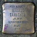 Stolperstein Dieffenbachstr 54 (Kreuz) Gertrud Tannchen.jpg