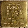 Stolperstein Pallasstr 12 (Schön) Franziska Borchardt.jpg