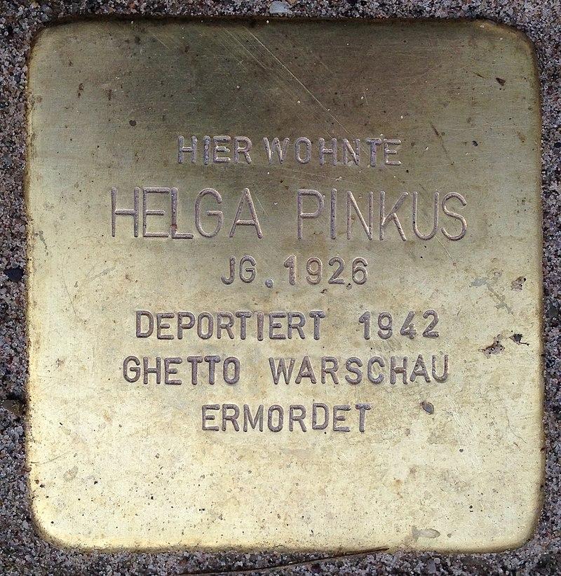 Stolperstein Porta Westfalica Hauptstraße 12 Helga Pinkus
