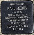 Stolperstein Solingen Basaltweg 10 Karl Mebus.jpg