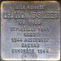 Stumbling block for Dr.  Ludwig Silber (Agrippastraße 10)