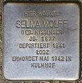Stumbling block for Selma Wolff (Im Weichserhof 8)