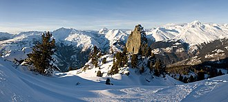 Les Arcs - The stone near/above Arcs 1600