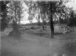 Stone ship at Runsa, Uppland, c. 1900.jpg
