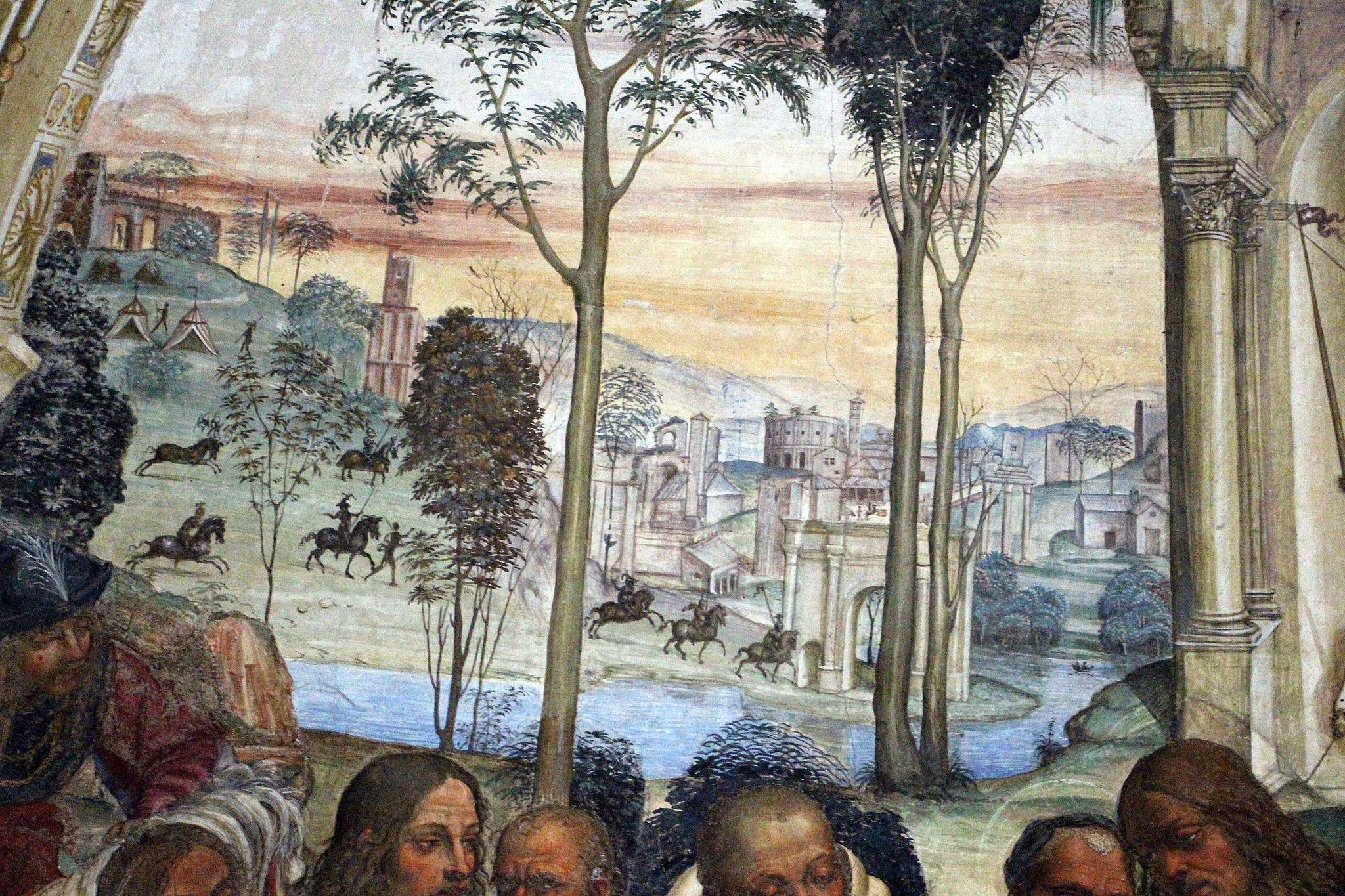 Storie di s. benedetto, 12 sodoma - Come Benedetto riceve li due giovanetti romani Mauro e Placido 02