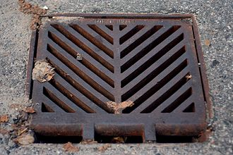 Storm drain - Full view of a storm drain (Ontario, Canada)