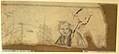 Study for the Prophet Jeremiah (recto); Studies of a Horse Seen from Below and of a Man Seated on a Chair, Probably a Self-Portrait and an Off-Print in Brown Ink of a Nude Female Abdomen and Legs (verso) MET DR332.jpg