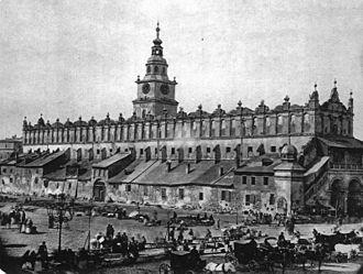 Cloth hall - Image: Sukiennice c.1870